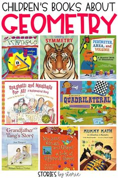 Geometry is all around us in our everyday lives. Whether you are teaching children to identify and shapes explore area and perimeter or to identify symmetry picture books can help! Here are some great childrens books about geometry. Fun Math, Math Games, Math Activities, Math Help, Learn Math, Kids Math, Maths, Elementary Math, Kindergarten Math