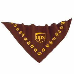"UNITED PARCEL SERVICE BROWN & GOLD UPS PET FASHION GIFT BANDANA DOG CAT 22""x22"" #UPS"