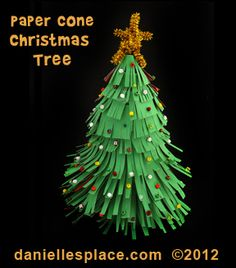 paper cone christmas tree craft kids can make from wwwdaniellesplacecom easy christmas