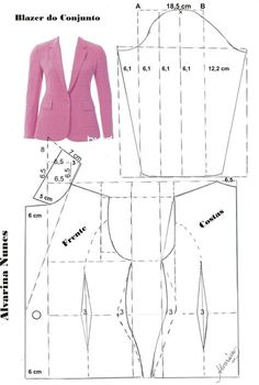 Sewing Patterns - Coat Patterns - Jacket Patterns - Bolero Pattern - Skirt Patterns - Blazer Pattern - Sewing Tutorials - Sewing E-book Coat Patterns, Dress Sewing Patterns, Sewing Patterns Free, Clothing Patterns, Vintage Patterns, Vogue Patterns, Sewing Clothes Women, Diy Clothes, Clothes For Women