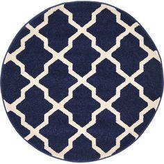 Unique Loom Trellis Navy Blue Area Rug & Reviews | Wayfair