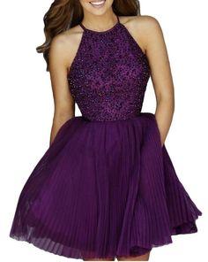 Beaded short Prom Dress Short homecoming dress I042