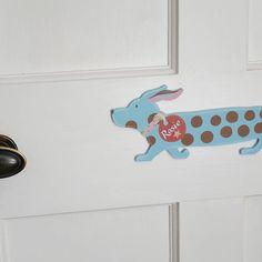 hand painted dog door plaque by moobaacluck | notonthehighstreet.com