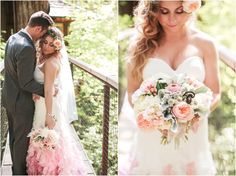 Stephanie and Danny | Treehouse Point Wedding | Vow Renewal  | Flowers by Down to Earth, Snoqualmie, WA