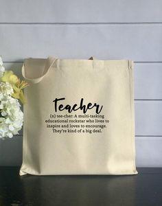 1197e5c6fd2e 14 Best teacher tote bags images   Teacher appreciation, Teacher ...