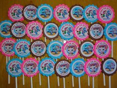 30 ct Sheriff Callie cupcake toppers personalized Great for birthday party favors or decoration