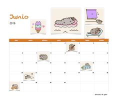 Gratis calendario Sonrisas de gato Junio 2016