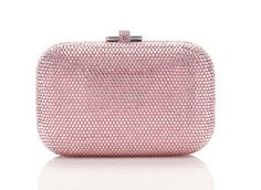 JUDITH LEIBER Crystal Slide-Lock Clutch Bag Silver Light Rose $1850 (Compare Elsewhere $2000) SHIPS FREE BEST PRICES YOU WILL FIND ANYWHERE ON GENUINE LADIES DESIGNER BRANDS! FREE WORLD SHIPPING & LOCAL DELIVERY AVAILABLE AT THE SURF CITY SHOP in Huntington Beach, California Major Credit Cards Accepted
