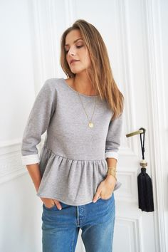 Blouse Albane gris - Orta store