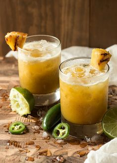 Grilled Pineapple & Jalapeno Mezcal Margarita | Will Cook For Friends by WillCookForFriends, via Flickr
