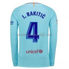 maillot de foot La Liga Barcelona 2017-18 I. Rakitic 4 maillot extérieur  manche c65a0fc572b