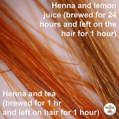 Henna Cat | How to mix henna for hair – recipe 2 – Lemon juice