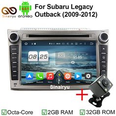 2G RAM Octa Core Android 6.0 Car DVD GPS Fit For Subaru Outback Legacy 2009 2010 2011 2012 Carens Bluetooth Radio 4G Navigation
