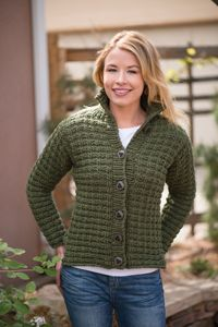 Olive Jacket - from the Fall 2014 Issue of Love of Knitting magazine