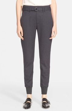 Free shipping and returns on Vince Belted Rib Cuff Jogger Pants at Nordstrom.com. Halfway between workday and weekend, this crisp woolen update to ribbed cuff joggers puts you squarely on trend.