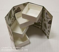 TUTORIAL for swiveling compartment box - thanks Kirsteen Gill!
