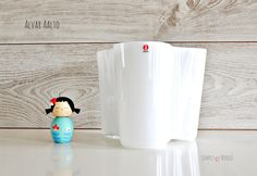 White Aalto Vase 160mm