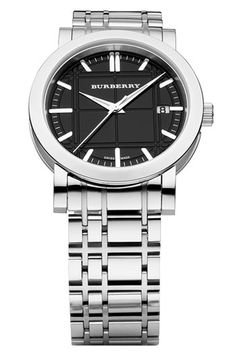 Burberry Men's Round Face Stainless Steel Bracelet Watch
