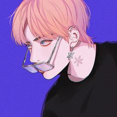 his neck is really beautiful ty for accentuating his neck artist Bts Anime, Anime Guys, Anime Art Girl, Manga Art, Aesthetic Art, Aesthetic Anime, V Chibi, Taehyung Fanart, Kpop Drawings