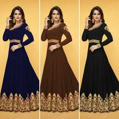Gown Heavy Georgette With Cording Work Top Indian Bollywood Designer Dresses DS