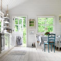 An idyllic swedish summer cottage on the blog today. Loving the outdoor kitchen and shower! Link in bio . Clive Tompsett. #summertime #summercottage #swedish #hometour