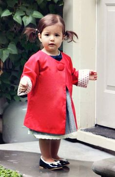 Fall Chic Red Everyday Coat by simplicitycouture on Etsy, $49.00