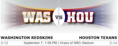 Washington Redskins vs. Houston Texans NFL Preview #WasvsHou #Redskins #Washington #Houston #Texans #NFL #Football #Weekone