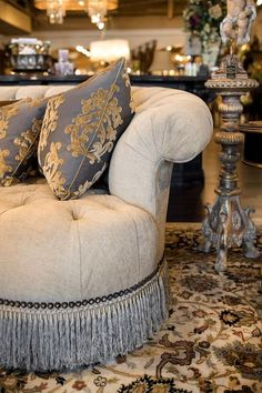 We have the largest selection of Marge Carson furniture in Chicago area. We also make custom window treatments from Marge Carson fabrics! Decor, Furniture, Marge Carson Furniture, Luxury Furniture, Home Decor, Fine Furniture, Tuscan Furniture, Mediterranean Decor, Furniture Design