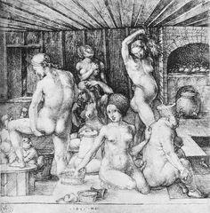 ALBRECHT DURER  The Women's Bath, 1496