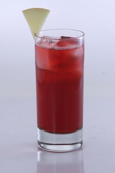 Cape Cod with a twist: 2 oz. Vesica Vodka, 1 1/2 oz. aronia berry juice, 1 1/2 oz. apple juice; Shake over ice and strain into a highball.