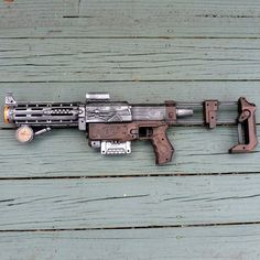 Steampunk gun. They should have covered or sanded off the NERF logo...