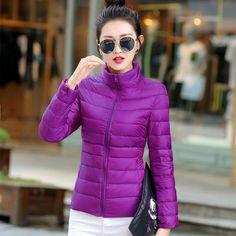 Fashion Brand 90% White Duck Down Parka Jacket Women Warm Down Parka