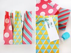 Free Printable Geometric Gift Bags | Oh Happy Day!