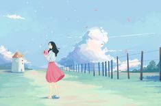 Simple Anime, Traditional Japanese Art, Some Beautiful Pictures, Digital Painting Tutorials, Anime Scenery, Art Background, Anime Art Girl, Cute Drawings, Illustration Art