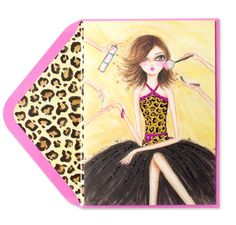 Illustrated by artist Bella Pilar, a fashion girl gets her hair, nails and makeup done in preparation for her birthday debut on this fabulous card. Her Hair, Birthday Cards, Girl Fashion, Aurora Sleeping Beauty, Disney Princess, Illustration, Artist, Dressing Room, Fun Stuff