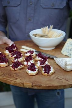 Crostini with Goat Cheese and Beetroot Confit. OMG!