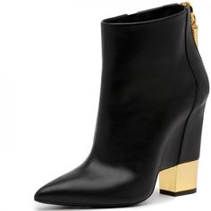 Women's Fall and Winter Fashion Ankle Booties Black Chunky Heels Fashion Boots Pointed Toe Ankle Boots For Work Chic Fashion Prom Shoes Elegant Wedding Dresses Shoes Spring Outfits Women Go Red For Women, Party, Ball, Anniversary, Going Out| FSJ
