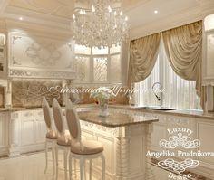 Дизайн интерьера гостиной апартаментов в классическом стиле в Барселоне - фото