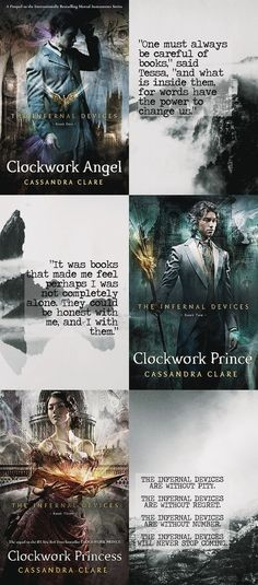 The Infernal Devices - Cassandra Clare I Love Books, Good Books, Books To Read, The Mortal Instruments, Fandoms Unite, Books And Coffee, Jace Lightwood, Clockwork Princess, Clockwork Angel
