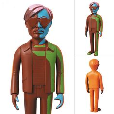 Andy Warhol Vinyl Silkscreen Valiant Ver.  Figure Medicom Toy VCD JAPAN #Medicom