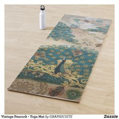 Vintage Peacock - Yoga Mat Anniversary Quotes, Love Messages, Hand Sanitizer, Vintage Shops, Cleaning Wipes, Keep It Cleaner, Peacock, Print Design, Yoga