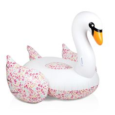 Sunnylife Liberty Flowers Giant Inflatable Swan - Featuring a large base to lounge on, this enormous swan by Sunnylife features handles on its elegant neck to hold onto or lie back and use its tail as a pillow – the choice is yours! A signature Liberty London print adds a splash of color.