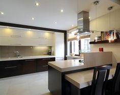 Kuchnia styl Nowoczesny - zdjęcie od All Design Agnieszka Lorenc Kitchen Interior, Sweet Home, Lights, Black And White, Furniture, Pantries, Home Decor, Design, Kitchens