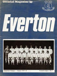 Everton v Tottenham Hotspur 1971-72 match prograqmme