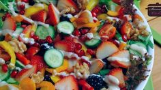 طريقة عمل سلطة الفراولة بصلصة دبس الرمان - Strawberry salad with pomegranate molasses recipe
