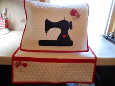 Sewing Machine Dust Cover  Mat Organizer  by cottagegardenquilts