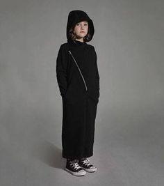 #NUNUNU AVIATOR DRESS BLACK