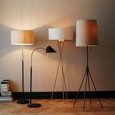 Orange Floor Lamp | [ Maria Killam: How To Make a Grey Room Happy ...