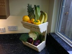 new vegetable rack storage for fruits and kitchen produce 2 tier stand Vegetable Rack, Vegetable Stand, Laundry Room, Crafty, Fruit, Vegetables, Storage, Kitchen, House