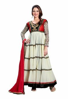 Fabdeal Indian Designer Off White Pure Georgette Embroidered Salwar Kameez Fabdeal, http://www.amazon.de/dp/B00IL752HU/ref=cm_sw_r_pi_dp_vOuntb1886GMY